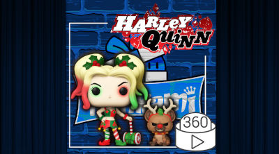 Figura Funko POP Harley Quinn & Helper 357 | Funko DC Comics Navidad | Video 360º